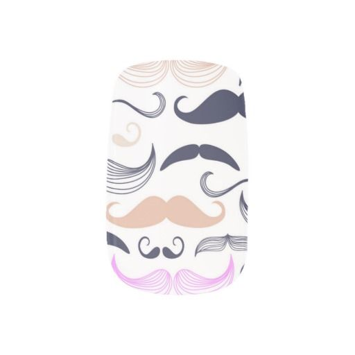 This funky design showcases the coolest stache's in history with a black background white mustaches.