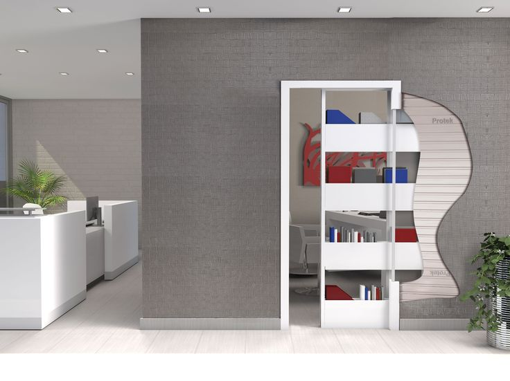 Bigfoot® America single allows the sliding of one storage cupboard, without dividing two rooms by a sliding door. Your new bookcase at home!