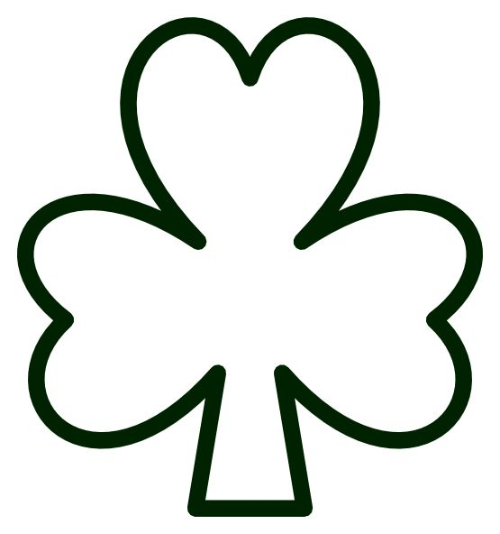Saint Pattys Day Shamrock Black White Line Flower Art Coloring Sheet Colouring Page Bandicoot Book