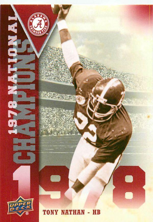 2012 Upper Deck Alabama 1978 National Champions #NCTN Tony Nathan #Alabama #RollTide #BuiltByBama #Bama #BamaNation #CrimsonTide #RTR #Tide #RammerJammer #NationalChampions