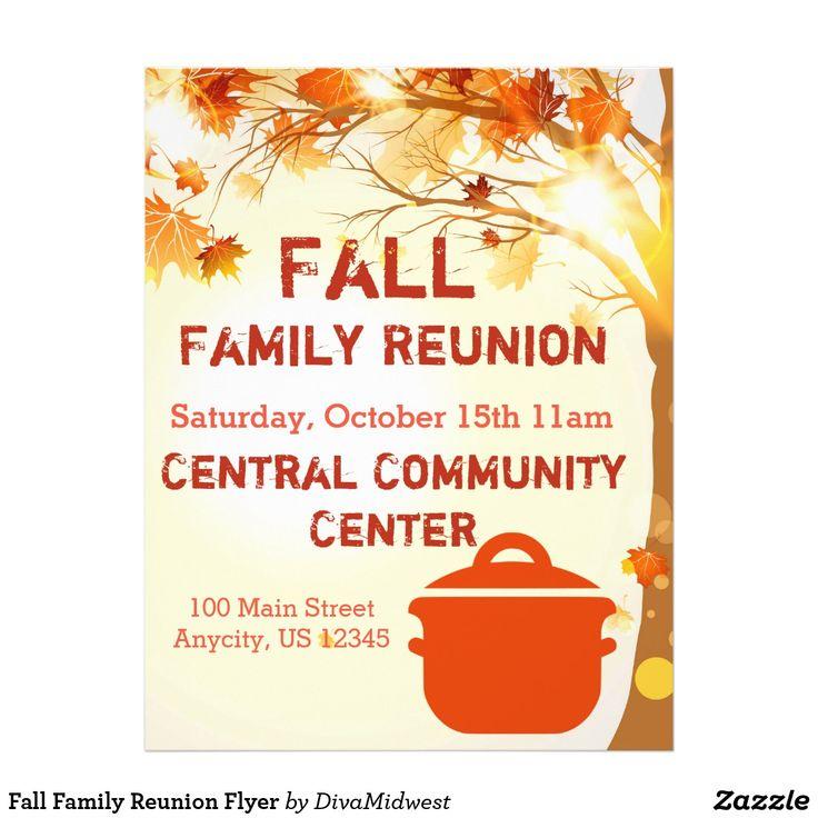 Fall Family Reunion Flyer Event Flyers Pinterest - family reunion flyer