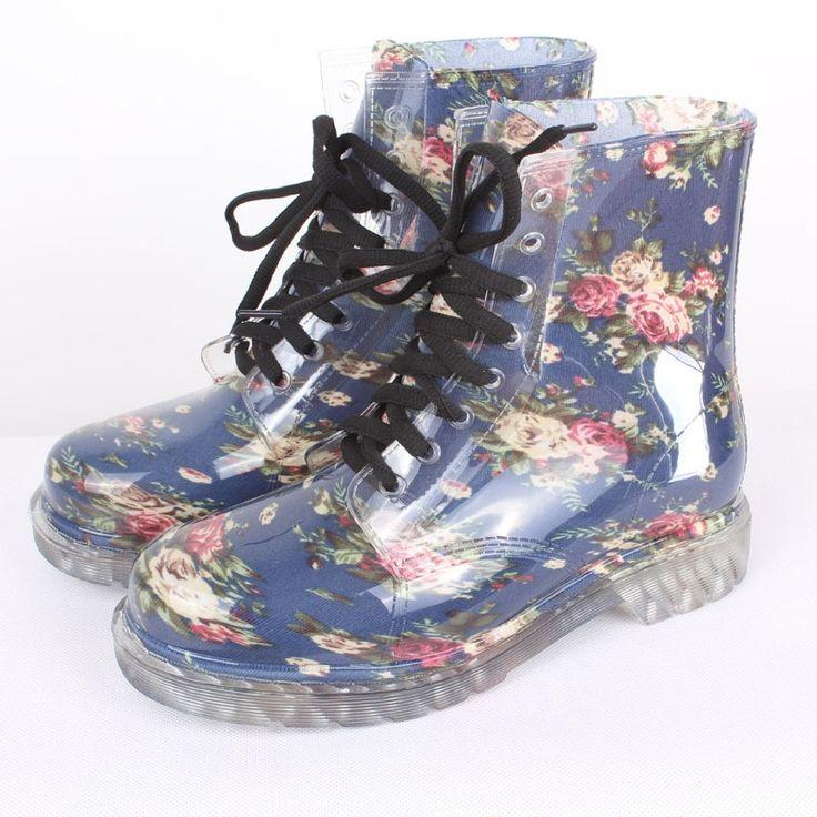 31.91$  Watch now - http://ali6dc.shopchina.info/1/go.php?t=32478645819 - Hot sale print women rainboots waterproof boots PVC women rainboots rubber shoes women rain shoes botas de agua wellies YX004  #buymethat
