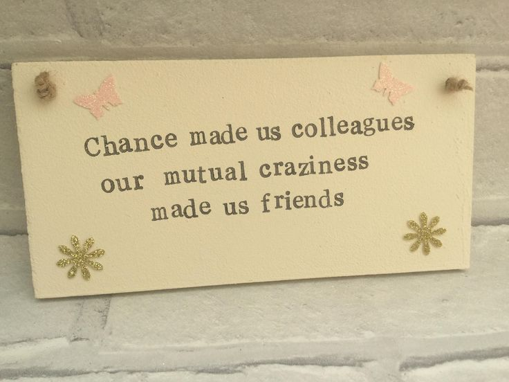 Bestfriend, Friend, Work Friend, Work colleague humour plaque by Thewoodenbubble on Etsy