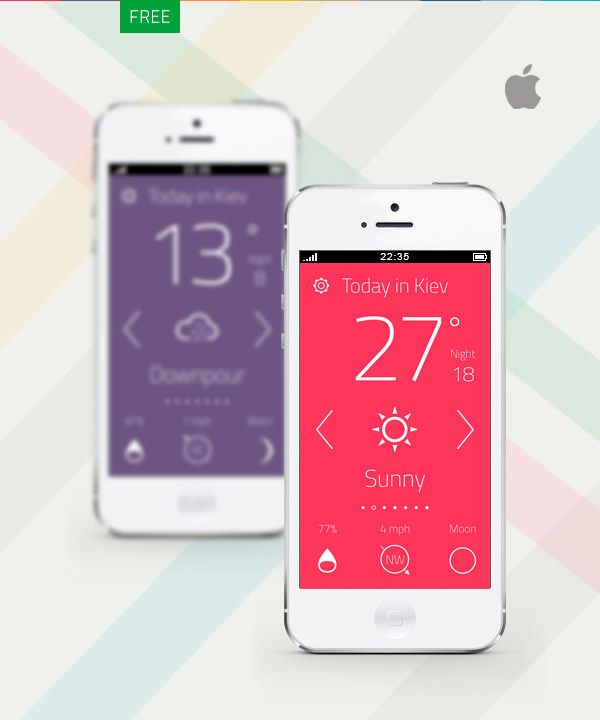 Beyond a doubt, mobile applications are really popular these days, some of them, indispensable. Aside from a good idea or a really easy to use interface, an attractive app design is also very important. When it comes to weather apps in particular, that design has to both be