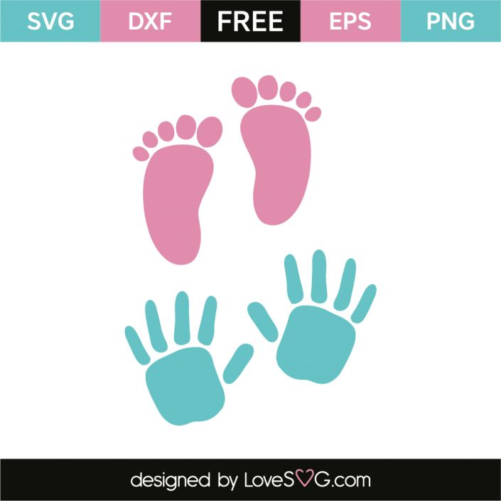 *** FREE SVG CUT FILE for Cricut, Silhouette and more *** Baby prints