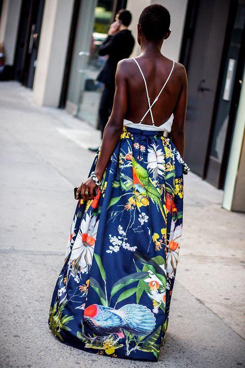 Great print great dress!
