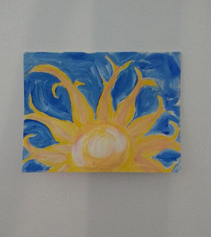 4 x 5 1/2 greeting card in acrylic inspired by Jane Font tutorial Feb 2016 Sheila's birthday.