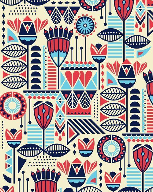 modern botanicals - I'd love this as fabric, or even take it as the Nestle rucksack. Estampa • Promoção Nestlé - bel andrade lima