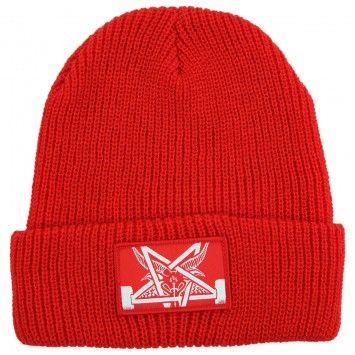 Thrasher Skategoat Zoom Beanie in Red / White
