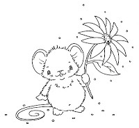 just for you cut emouse with flower line drawing flower line drawingskids coloringcoloring - Drawing For Kids To Color