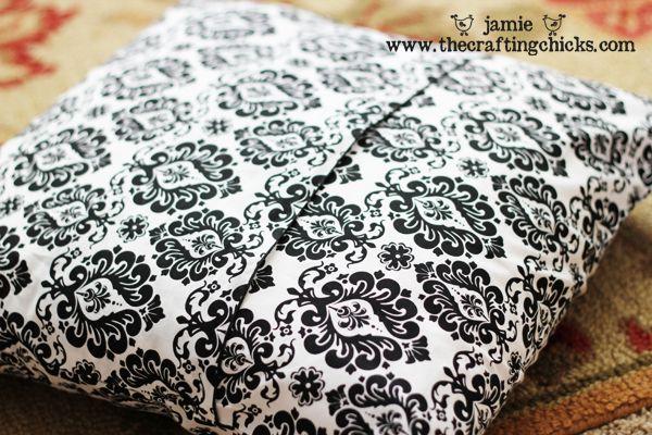 DIY pillow slipcover