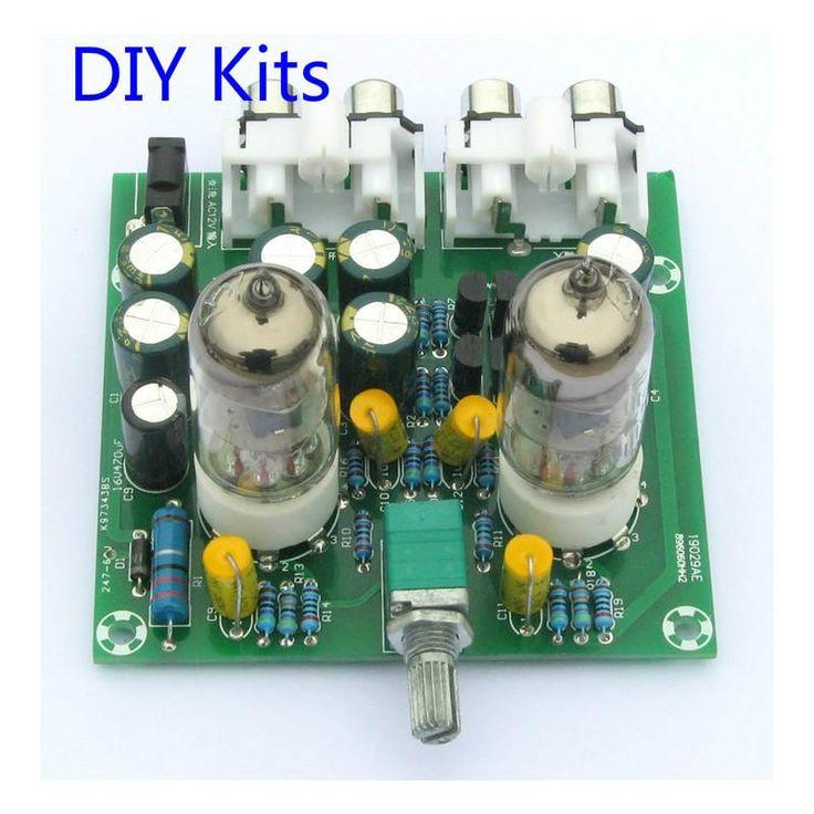 Fever 6J1 tube preamp amplifier board Pre-amp Headphone amp 6J1 valve preamp bile buffer diy kits