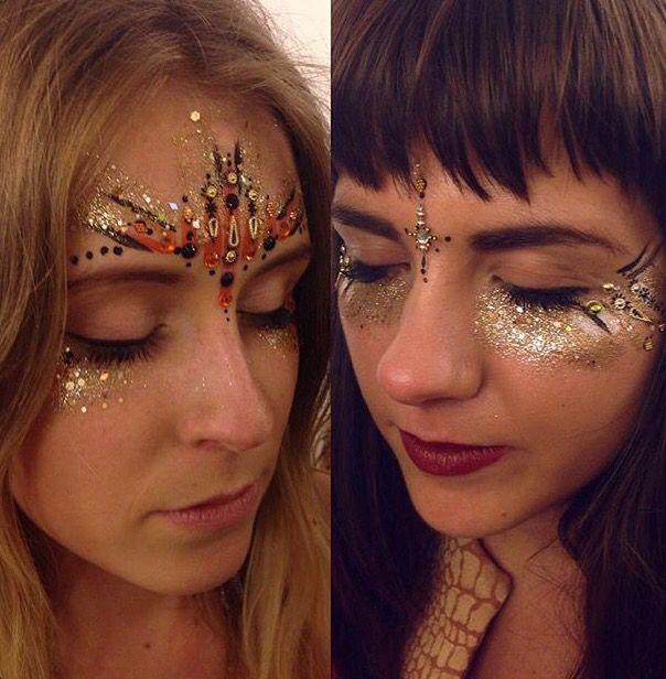 Glitter festival makeup
