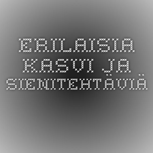 Erilaisia kasvi- ja sienitehtäviä, luokat 1-6.