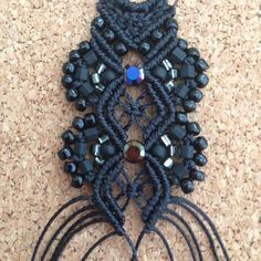 "176 Likes, 3 Comments - Rosalie Cates (@rosi67124) on Instagram: ""My work today... #madeinkansasbyrosi #black #macrame #bracelets #boho #bohemian #bohochic…"""