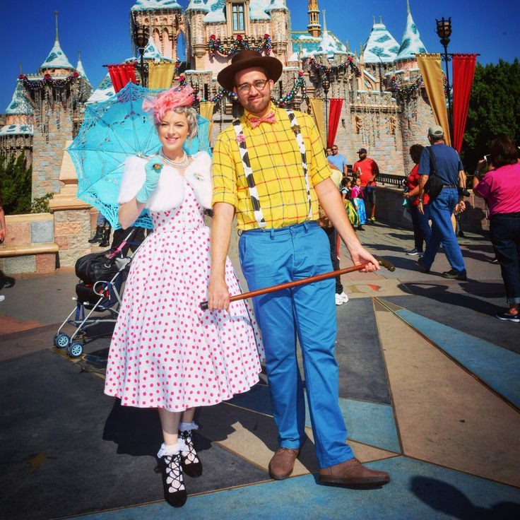 Toy Story Bopeep and Woody Disneybound on Dapper Day in Disneyland - @dolewhipdame on Instagram
