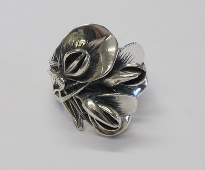 Another of my Gavan Riley rings. Gorse design sterling silver.