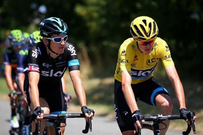 Geraint Thomas and Chris Froome ride stage 10 of the Tour de France to a decisive win (end up in sixth place and First).