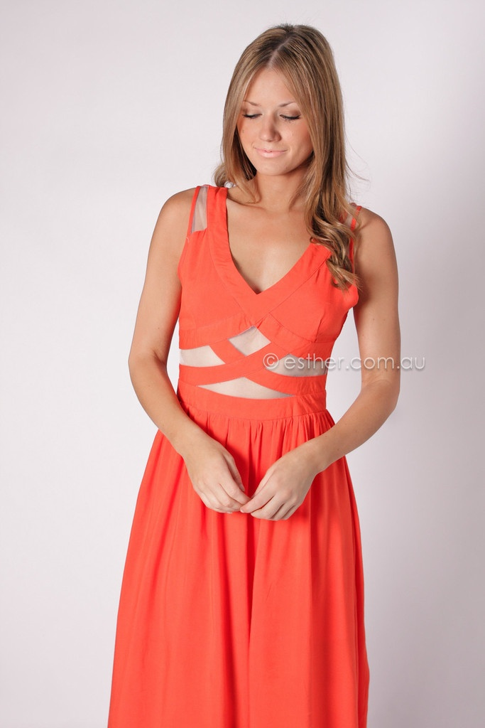 How to Wear Coral Dress