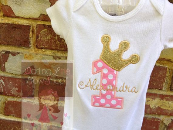 Baby Girl First Birthday Outfit Royal by DarlingLittleBowShop