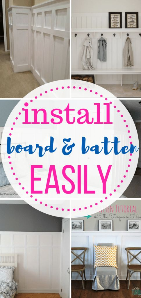 Board and Batten, How to Install Board and Batten, Home Improvement, Home Improvement Projects, Easy Home Improvement Projects #DIYHome #Home #homeimprovement