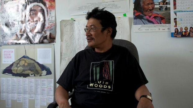 Zacharias Kunuk, director of Cannes-award-winning Atanarjuat: The Fast Runner, sits in his office in Igloolik, Nunavut.