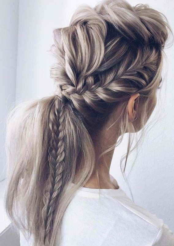 Unique Fishtail Braid Ponytail Hairstyles For 2018