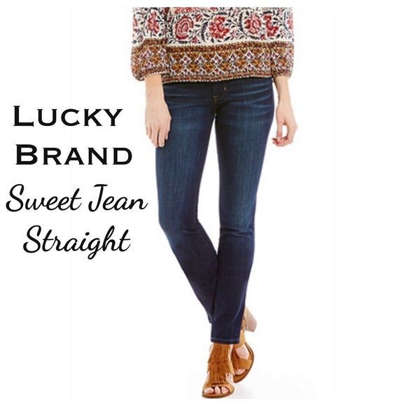 "Lucky Brand Jeans The Sweet Jean Straight by Lucky Brand. Medium Wash. Size 28 (6) women's. Measurements are as follows; waist laying flat is 16"" and inseam is 32"". In excellent condition!! Save 20% and bundle. Lucky Brand Jeans Straight Leg"