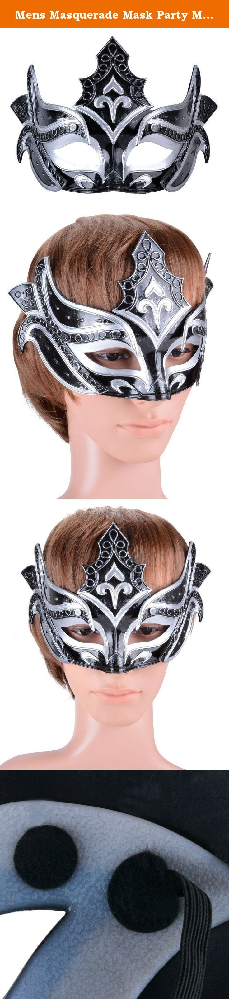 Mens Masquerade Mask Party Mask Roman Gladiator Cosplay Halloween Mask Black (Black). Perfect for Halloween/Christmas carnivals,masquerade, mardi gras, party ball prom , costume cosplay party ,fashion shows , wedding,mask events , night club and so on. .