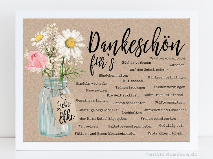 Drucke & Plakate - Abschiedsgeschenk Erzieherin mit NAME (Kunstdruck) - ein Designerstück von Masipie bei DaWanda