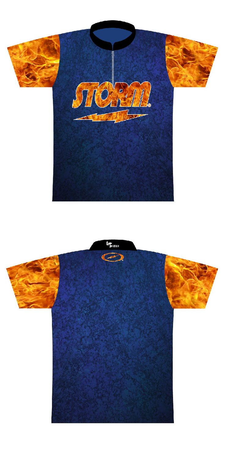 Men 159101: New Storm Bowling Dye-Sublimated Jersey Blue Design Size 2Xl W/Sash Collar BUY IT NOW ONLY: $67.99