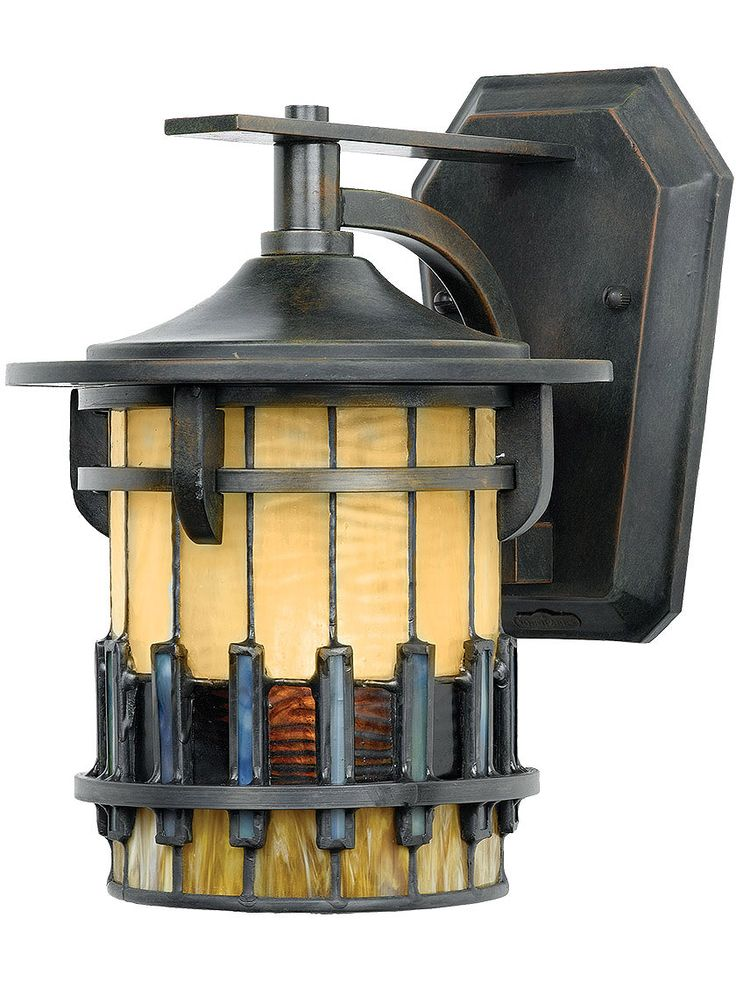 Cast Iron Porch Light. Autumn Ridge Small Wall Lantern in Bergamo Finish