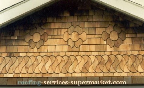 Shingle Design Patterns | ... crafted products siding double coursing and sidewall designs to choose