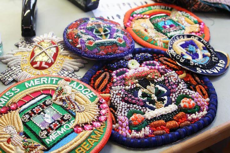 Mary Katrantzou A/W 14 Merit badges / patches