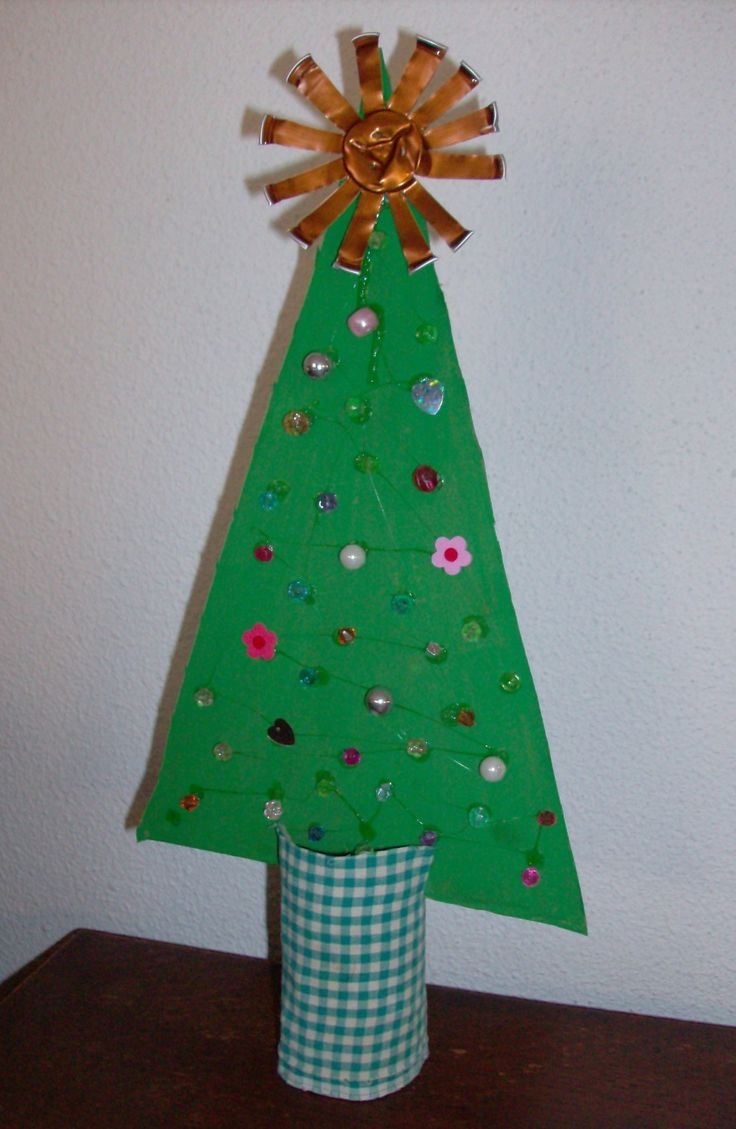 Toilet Paper Tube Cardboard Christmas Craft Adapt To Use Log Slice For Stump Part Create Tree Using Some Natural Materials Or
