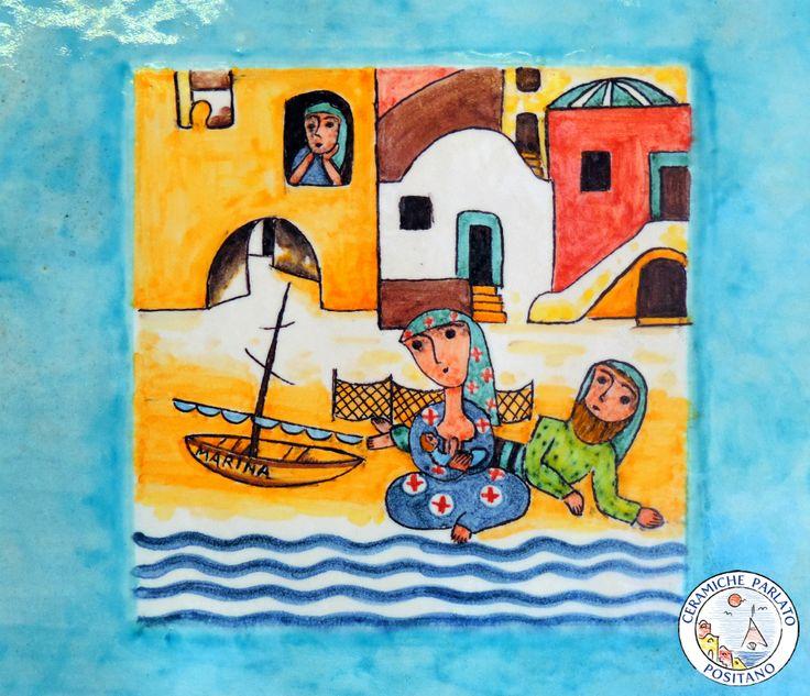 Non c'è nulla di più bello che seguire le proprie tradizioni ... #ceramicheparlatopositano #ceramic #pannelli #traditions #painting #amalficoast  http://www.ceramicpositano.com/
