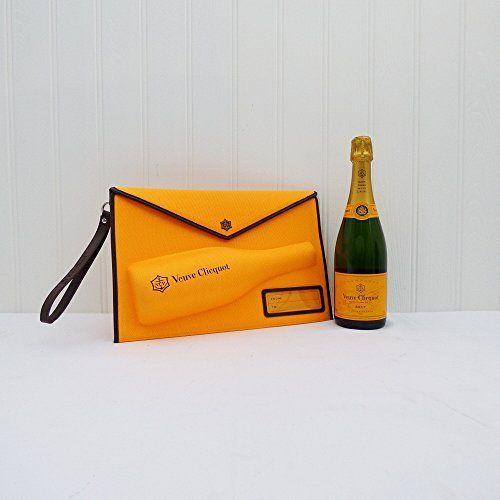 Veuve Clicquot Embrayage style sac à main avec 750ml Veuve Clicquot Yellow Label Champagne Brut – Idées cadeaux pour – Noël, anniversaire,…