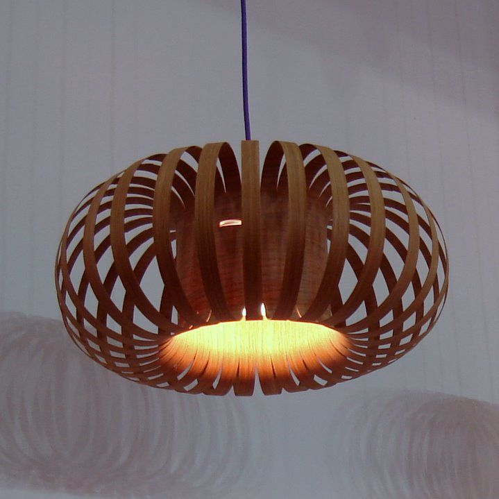 Nature inspires us all: wooden lamps by charlie whinney!