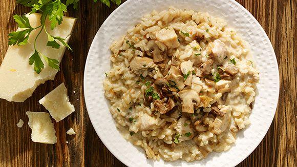 Ριζότο µε κοτόπουλο και μανιτάρια