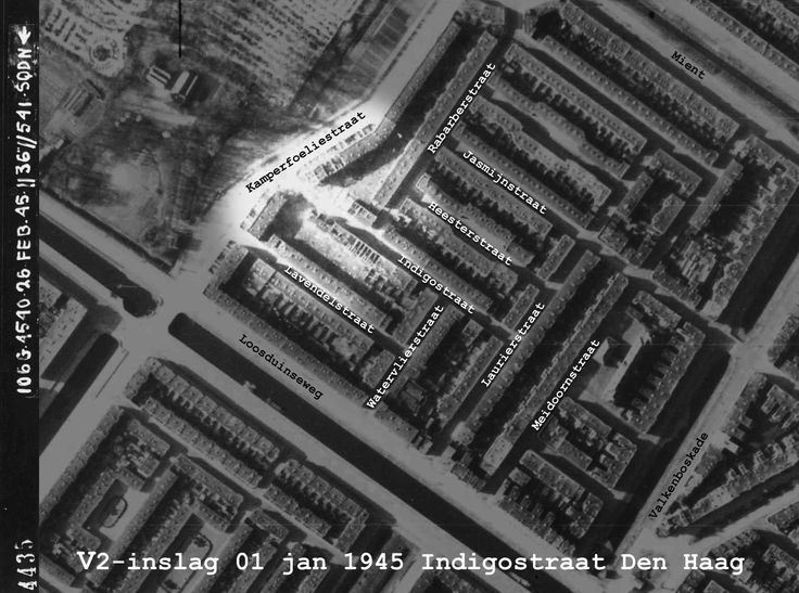 1 Jan 1945 :: 70 years ago :: V2 launch failure takes 24 lives @ Indigostraat Den Haag :: just ONE of nearly ninety malfunctions over a nine month period...