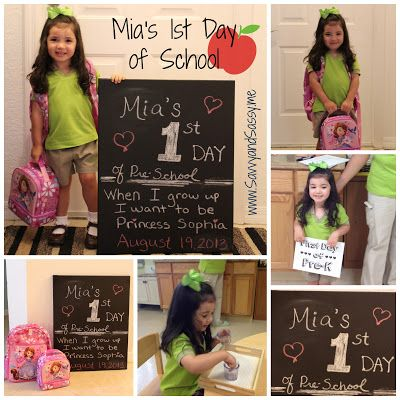 First Day of School Chalkboard Canvas Pictures