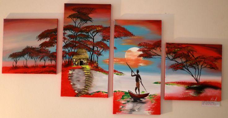 Autumn Landscape Acrylic Painting / Landscape Painting / Nature Painting/ African Landscape Painting by AllexaArt on Etsy https://www.etsy.com/listing/252801135/autumn-landscape-acrylic-painting