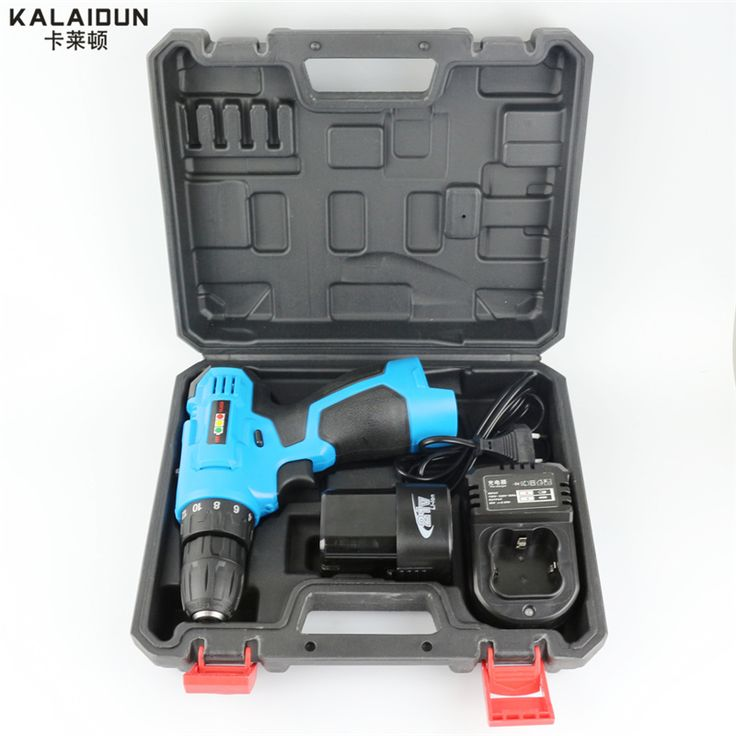 KALAIDUN 21V Electric Drill Mobile Power Tools Electric Screwdriver Lithium Battery Cordless Impact Drill With Extra Toolbox