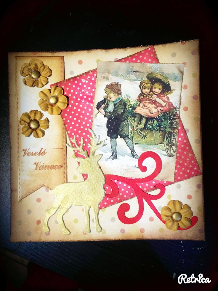 Vánoční přání 2015 Hand made cards