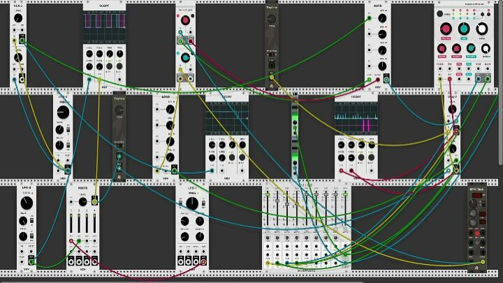 Exploration with pure 'sinewave sound' only in VCV Rack