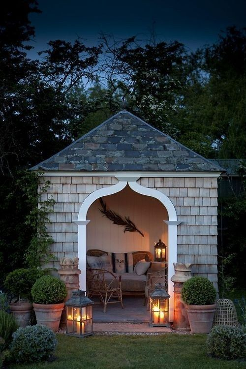 Sitting outside in an outdoor nook. | 31 Places Bookworms Would Rather Be Right Now