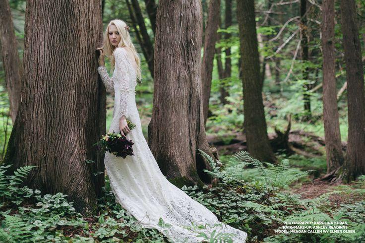 The Celestine: Long sleeved lace wedding dress.
