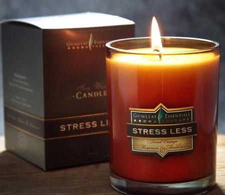 Gumleaf Essentials Stress Less Soy Jar Candles available at threemadfish.com