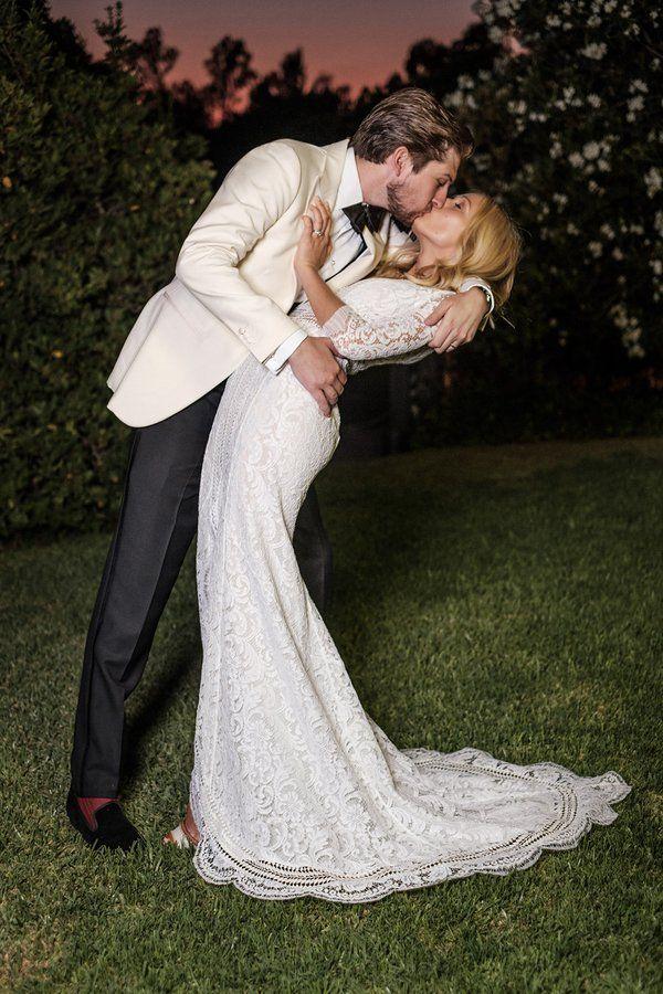 Designer Katherine Holmgren of Galvan and Erik Serrano Berntsen's summer wedding in Seville.