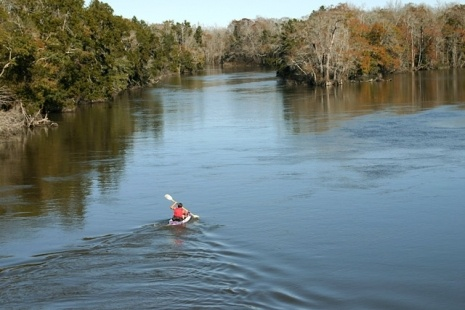 Kayaking is popular at Blackwater River State Forest.